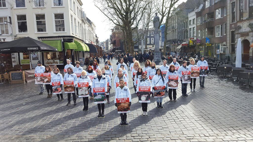 Vegan Outreach actie in Breda