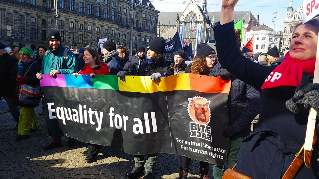 Bite Back solidair met 'Geen racisme in de raden' demonstratie
