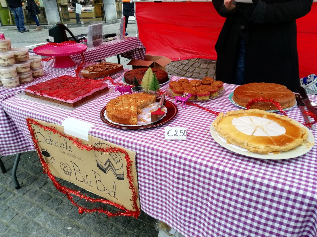 Vegan winter bake sale Leuven